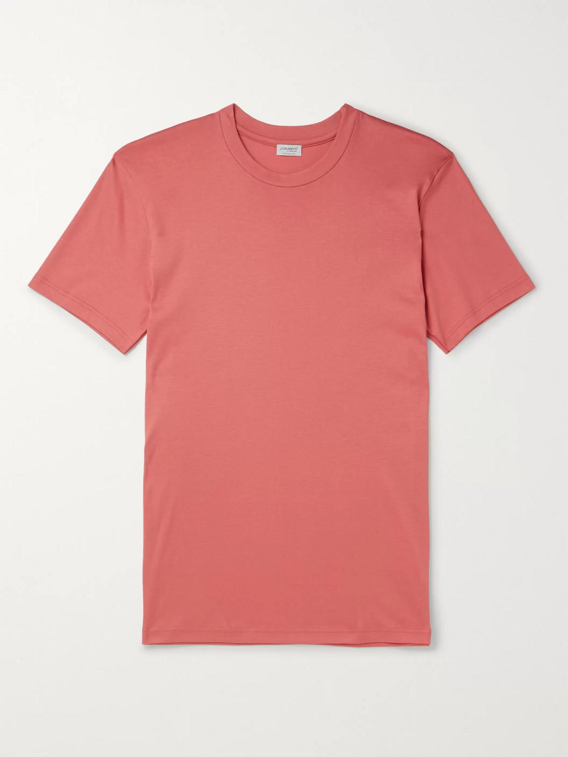 Zimmerli - Cotton-Jersey T-Shirt - Men - Red