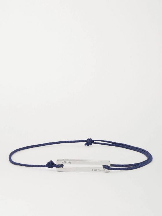 LE GRAMME Le 17/10 Cord and Sterling Silver Bracelet
