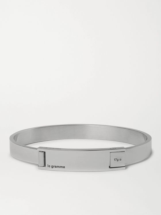 Le Gramme Assemblage Le 21 18-Karat Gold, Sterling Silver and Stainless Steel Bracelet
