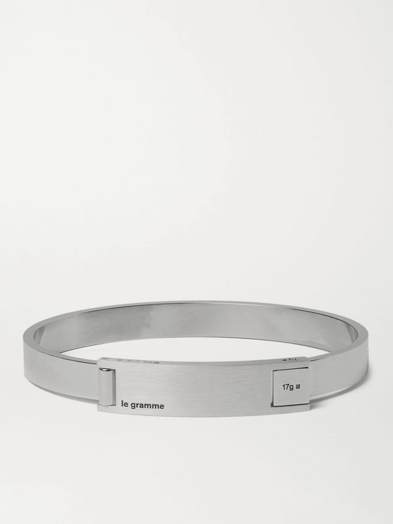 LE GRAMME Assemblage Le 21 Brushed and Sterling Silver Bracelet