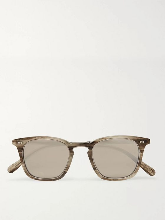 Mr Leight Getty C Square-Frame Tortoiseshell Acetate Mirrored Sunglasses