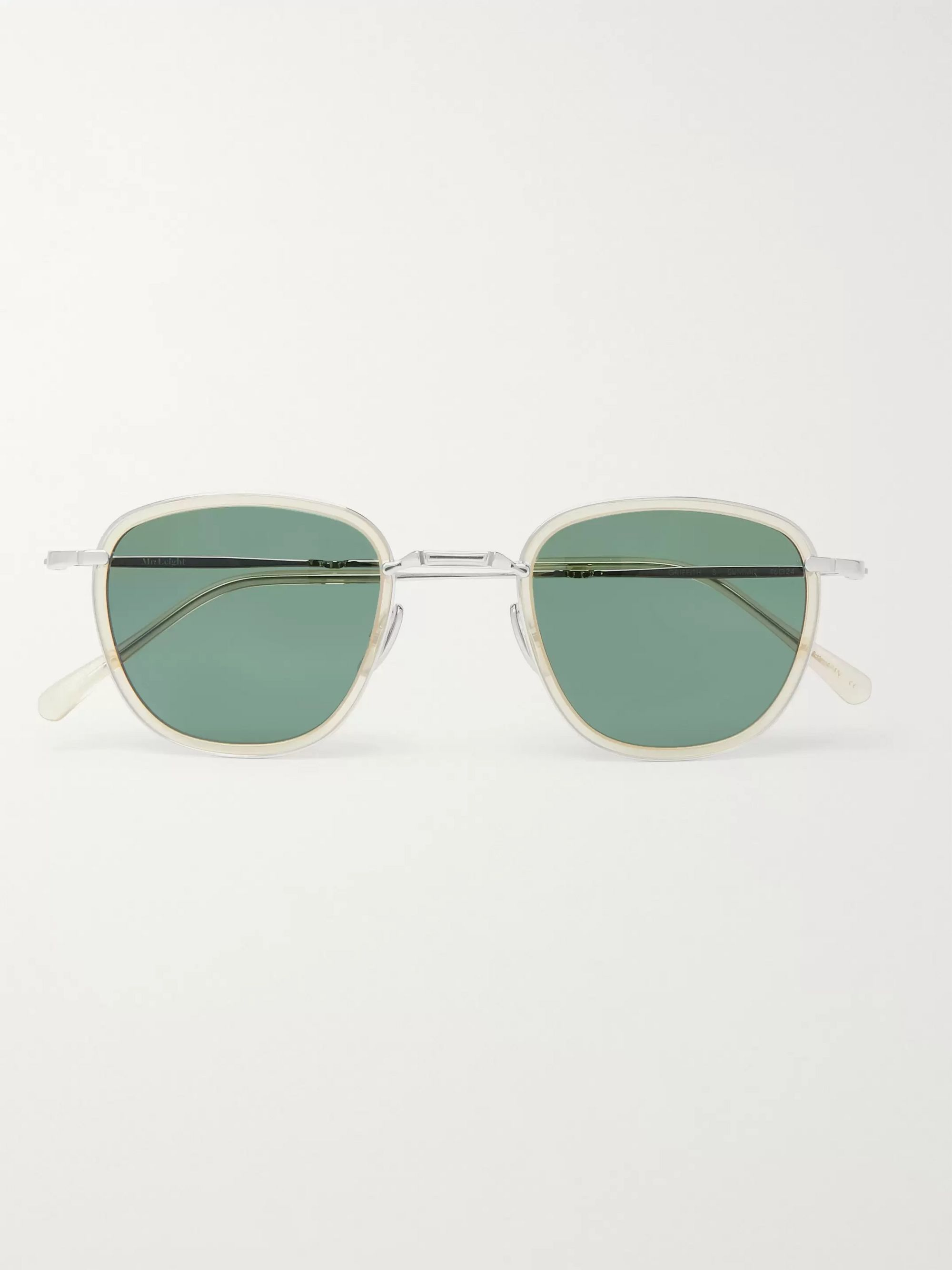 Mr Leight Griffith S Round-Frame Titanium and Acetate Sunglasses
