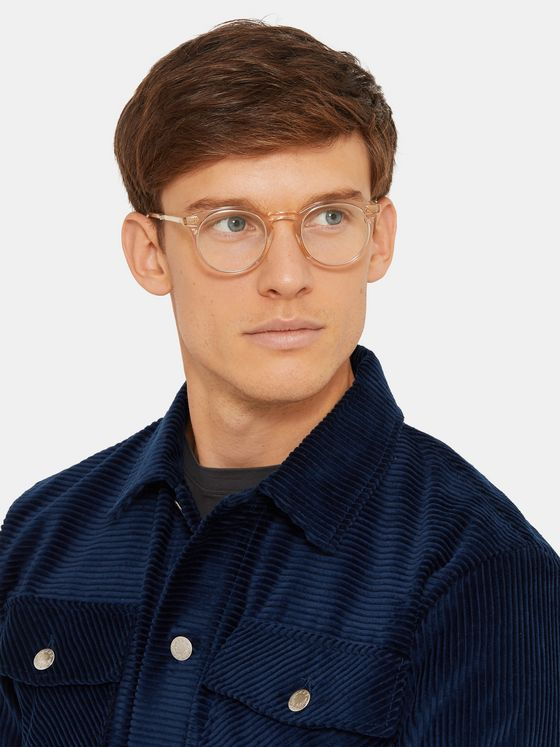 MR LEIGHT Crosby C Round-Frame Acetate and White Gold-Plated Optical Glasses
