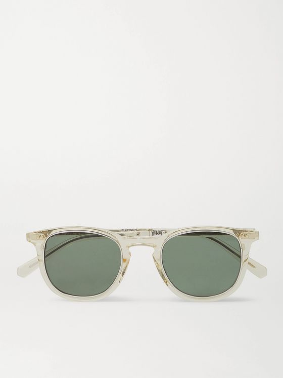 Mr Leight Cooper S Round-Frame Tortoiseshell Acetate Sunglasses
