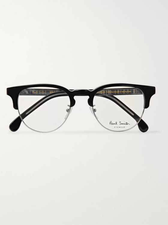 Paul Smith + Cutler and Gross Birch Round-Frame Acetate Optical Glasses