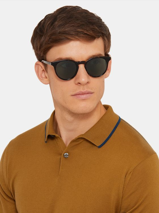 Paul Smith + Cutler & Gross Archer V2 Round-Frame Tortoiseshell Acetate Sunglasses