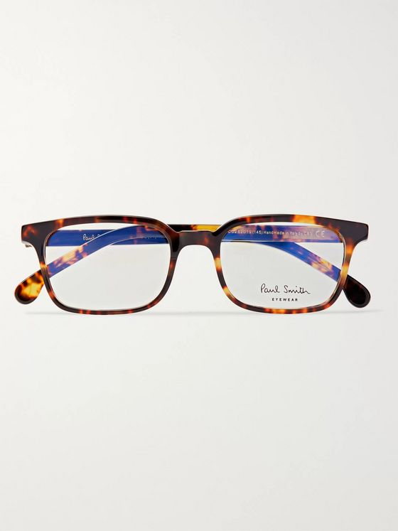 Paul Smith Square-Frame Tortoiseshell Acetate Optical Glasses
