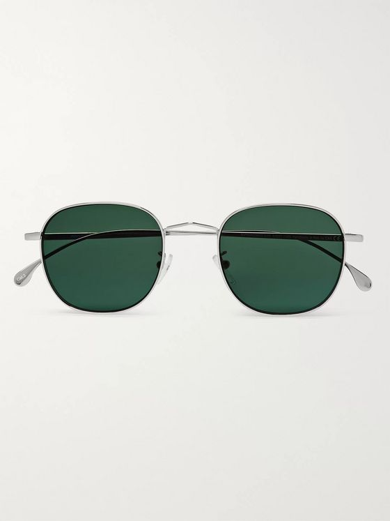 Paul Smith + Cutler & Gross Round-Frame Silver-Tone Sunglasses