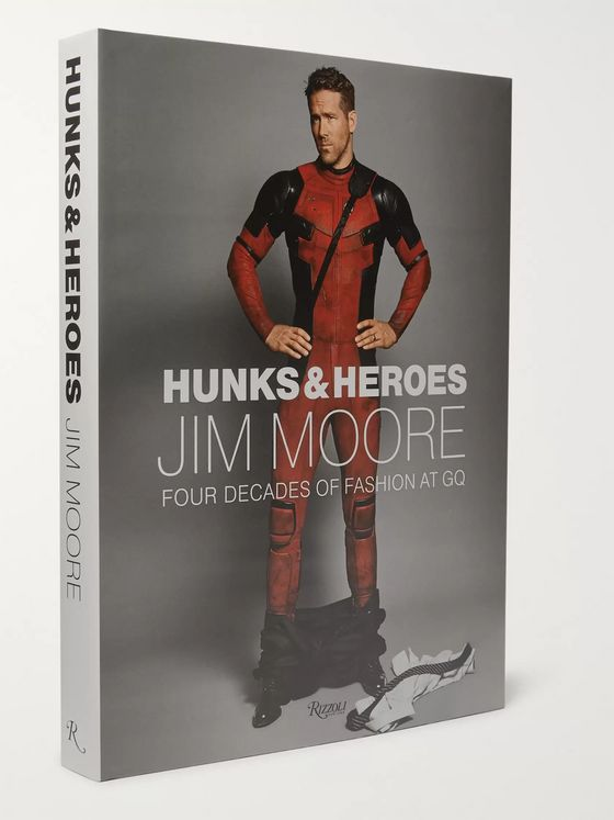 RIZZOLI Hunks & Heroes: Four Decades of Fashion at GQ Hardcover Book