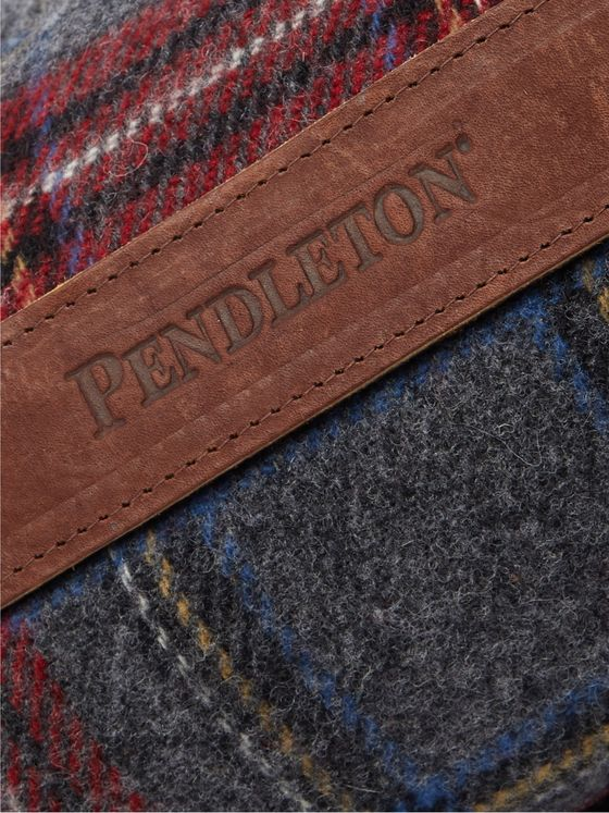 Pendleton Fringed Checked Wool Blanket