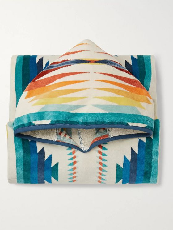 Pendleton Cotton-Terry Jacquard Hooded Towel