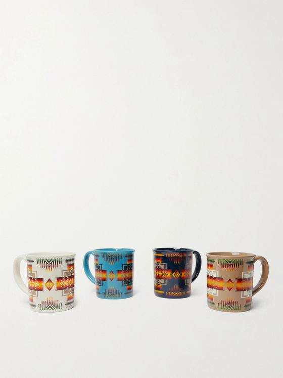 Pendleton Chief Joseph Set of Four Printed Ceramic Mugs