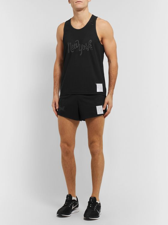 Satisfy Race Printed Perforated Justice Tank Top
