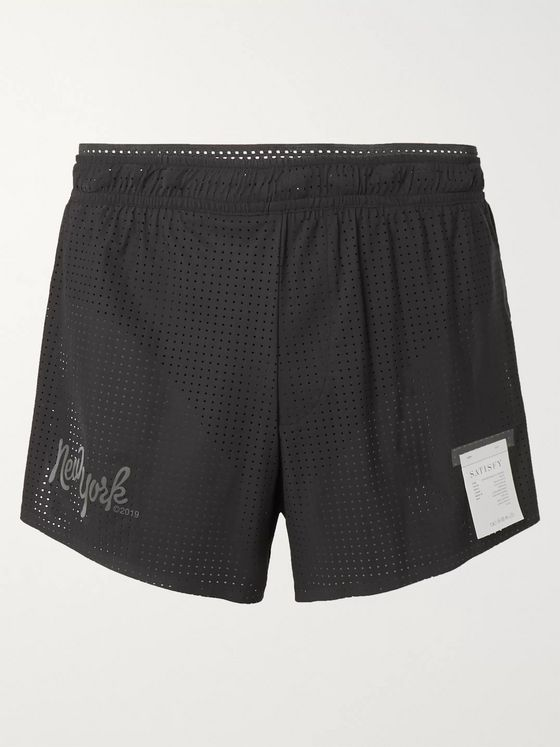 Satisfy Long Distance Perforated Justice Shorts