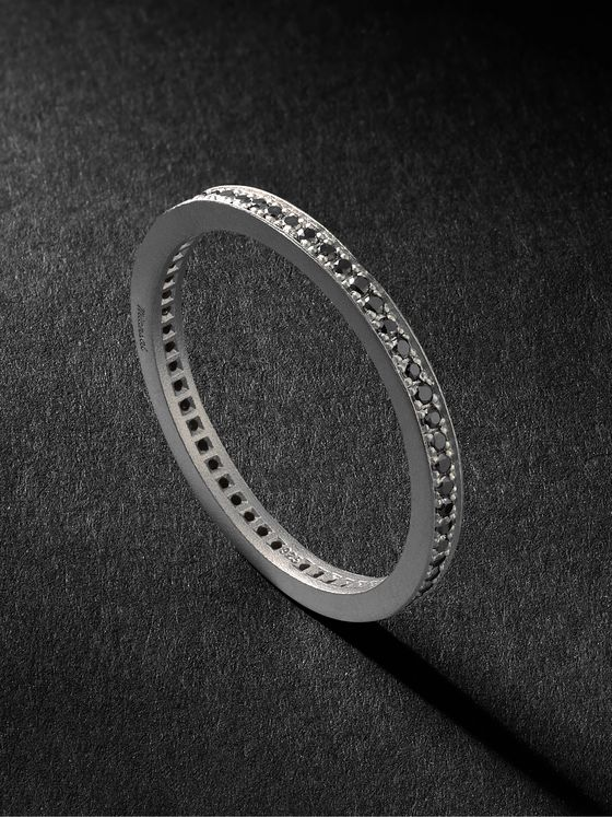 Miansai Eclipse Sterling Silver Diamond Ring