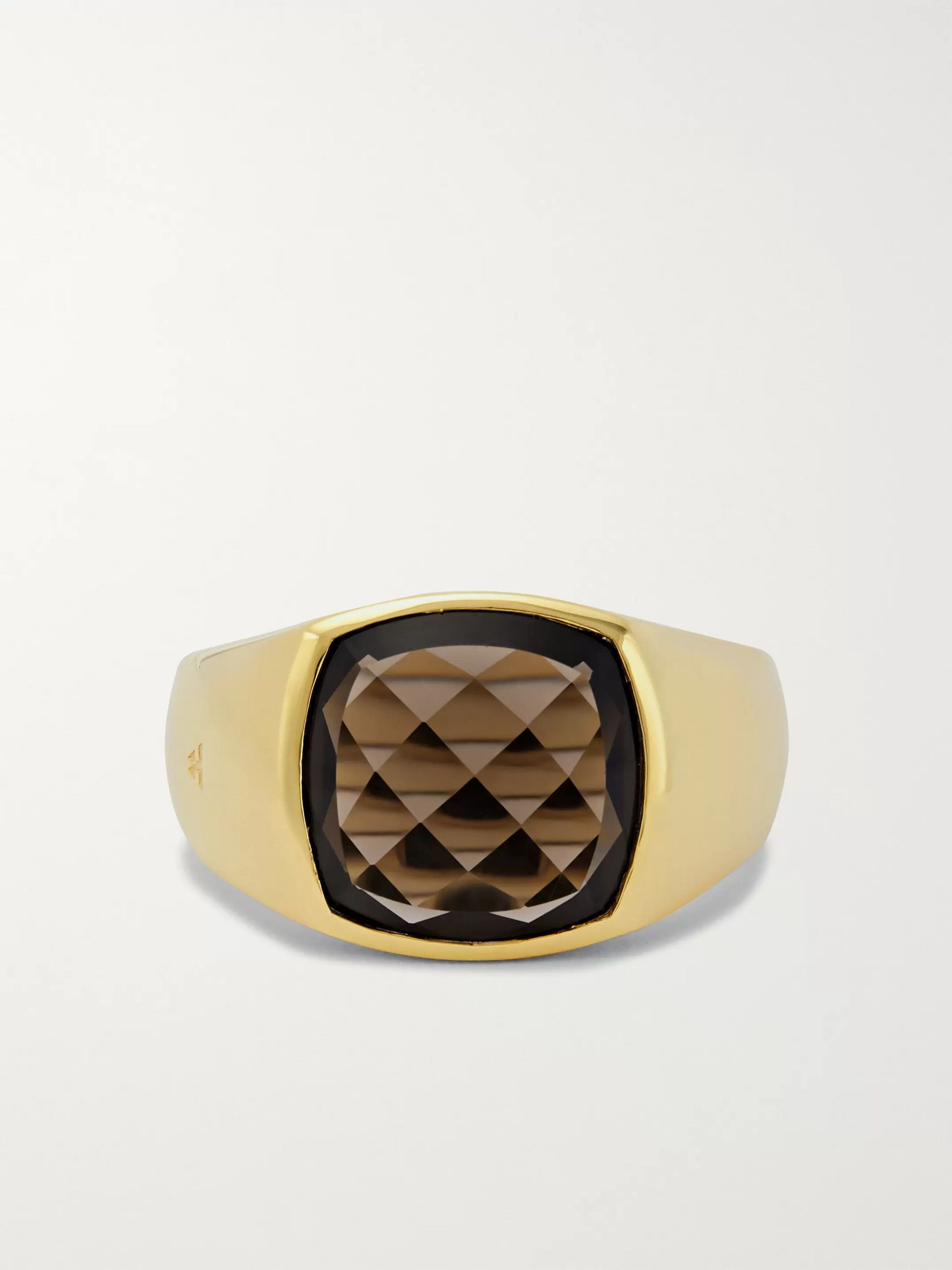 Tom Wood Shelby 9-Karat Gold Smoky Quartz Ring