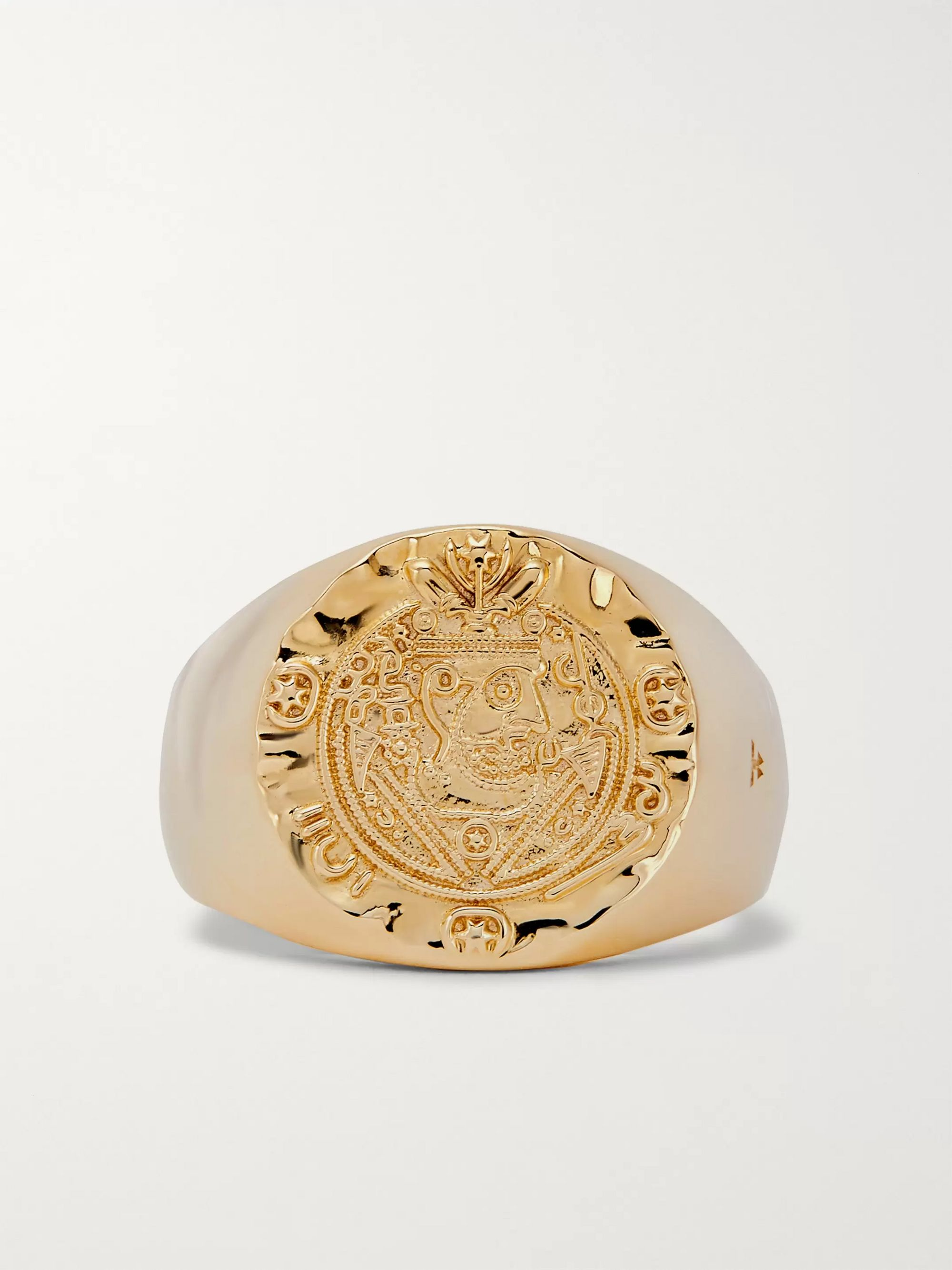 Tom Wood Silk Coin 9-Karat Gold Ring