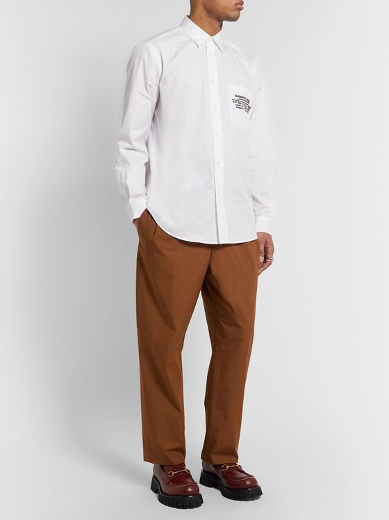 Burberry Slim-Fit Printed Cotton-Poplin Shirt