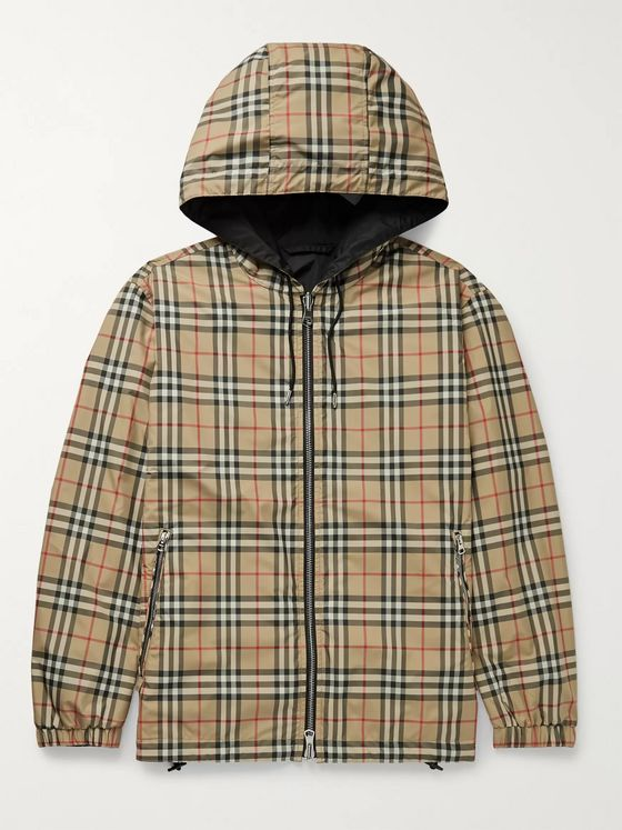 Burberry Reversible Checked Shell and ECONYL Hooded Jacket