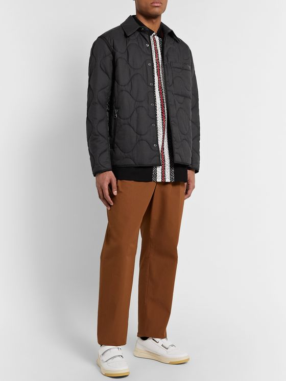 Burberry Quilted Cotton and Cashmere-Blend and Ripstop Jacket