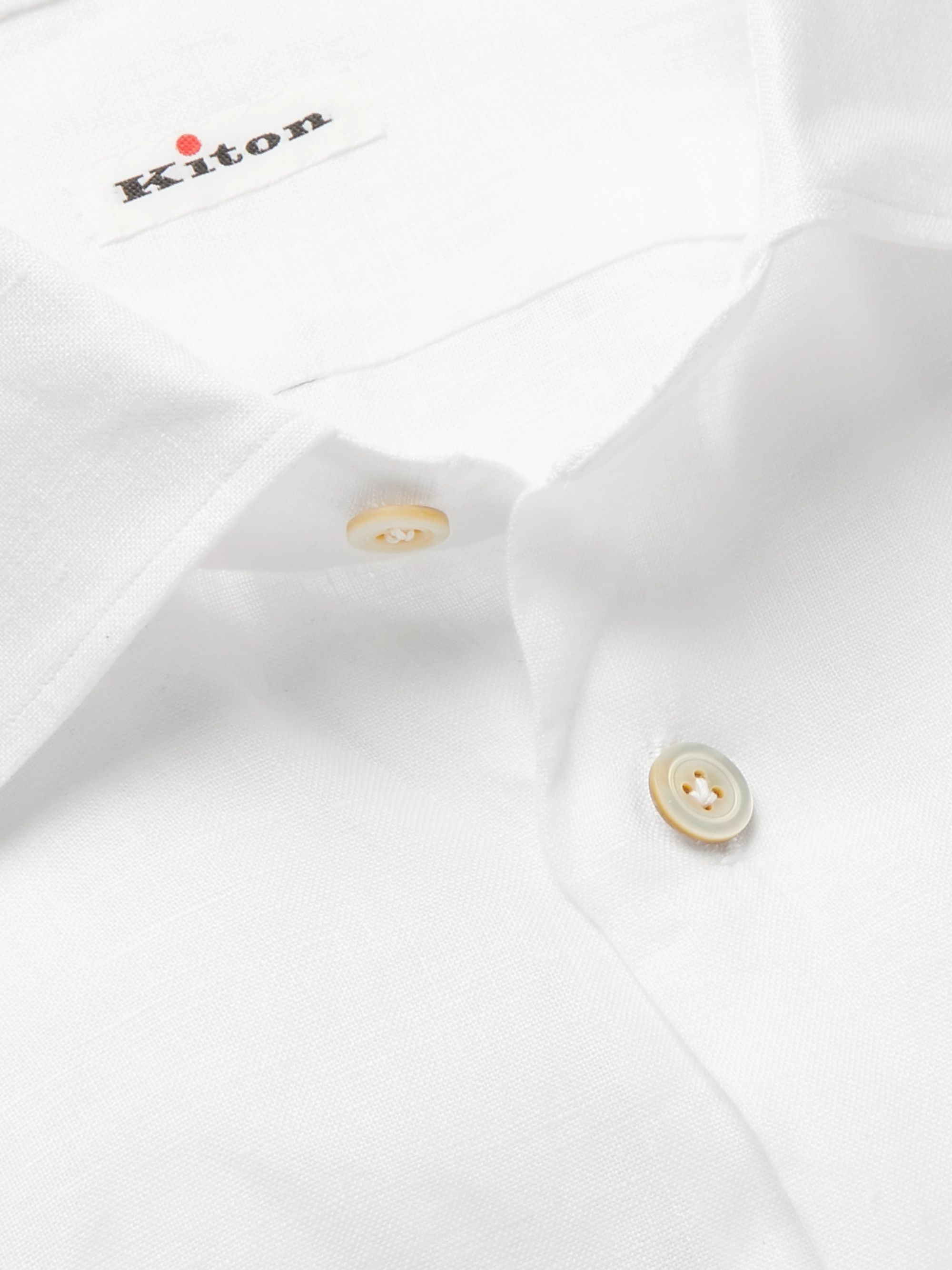 Kiton Slim-Fit Linen Shirt