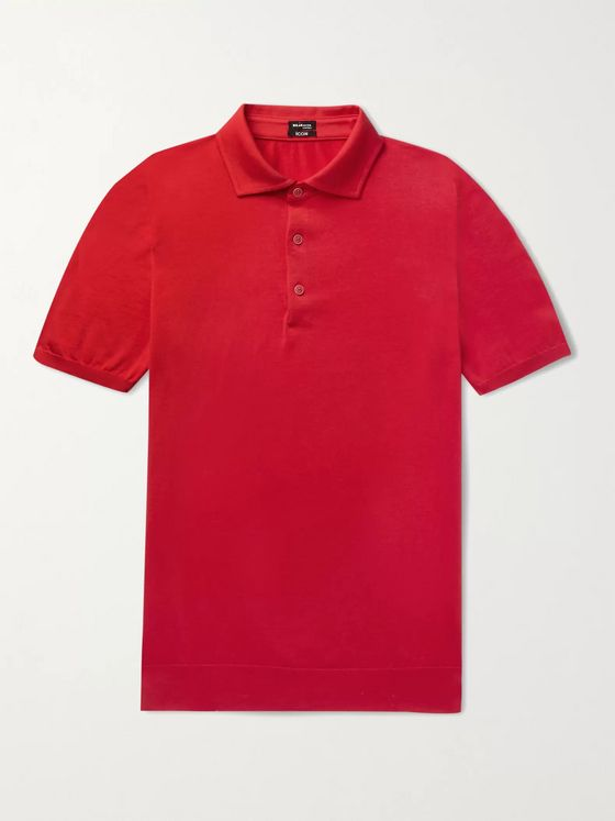 Kiton Slim-Fit Cotton Polo Shirt