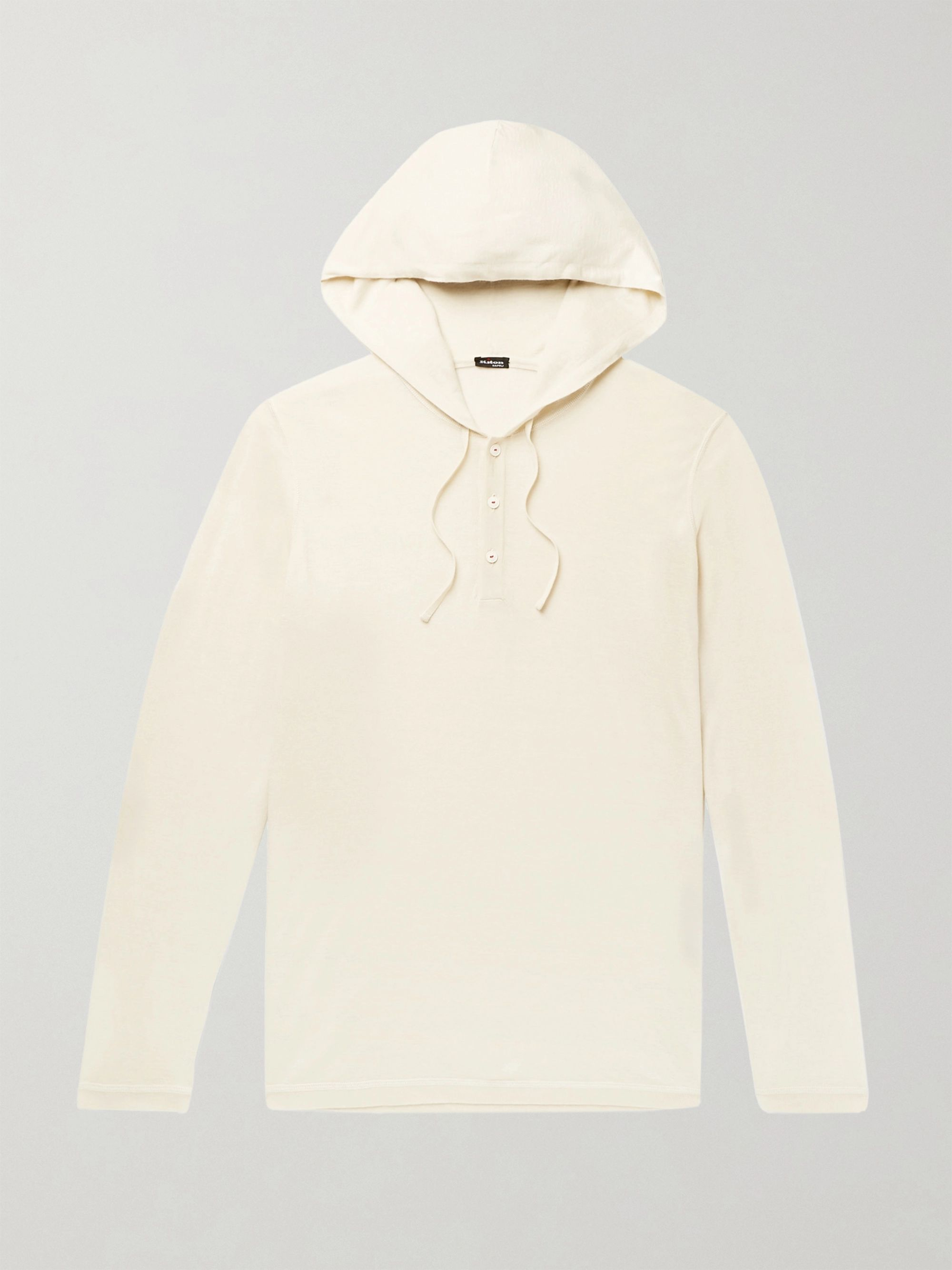 KITON Slim-Fit Cashmere and Silk-Blend Hooded Sweater