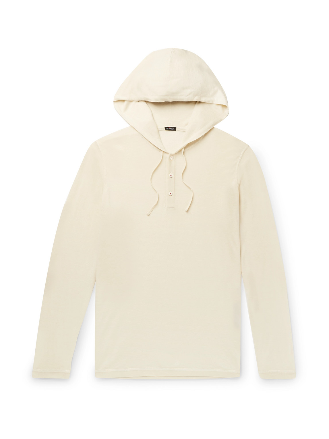 Kiton - Slim-Fit Cashmere And Silk-Blend Hooded Sweater - Men - Neutrals