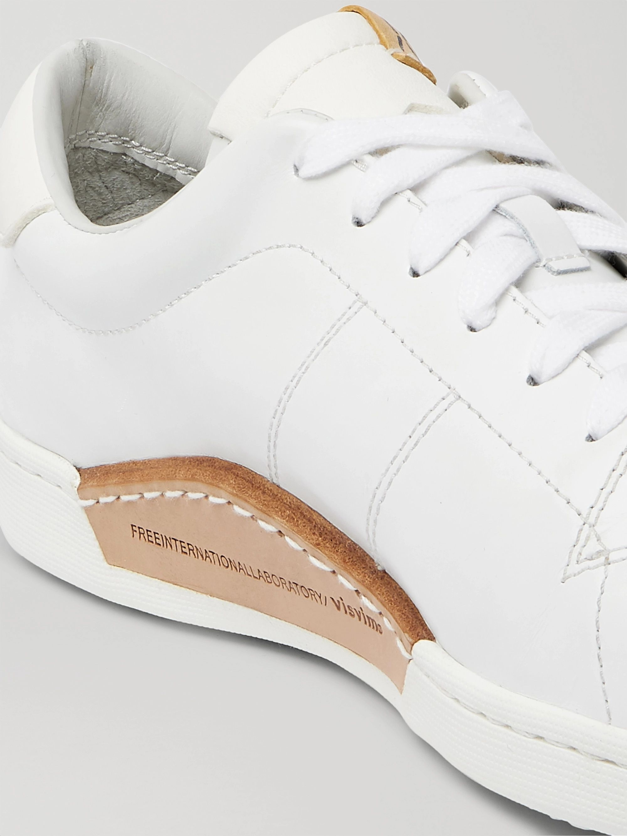 White Foley Folk Leather Sneakers | Visvim
