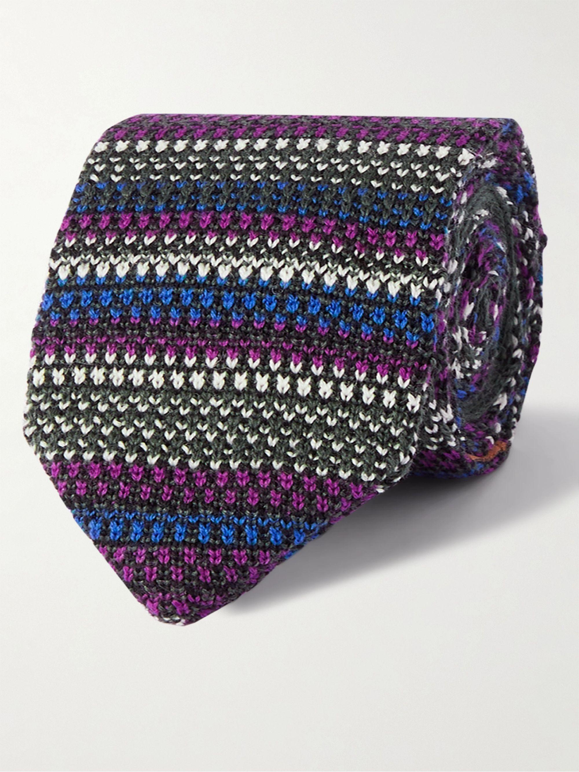 미쏘니 넥타이 Missoni Wool tie,Multi
