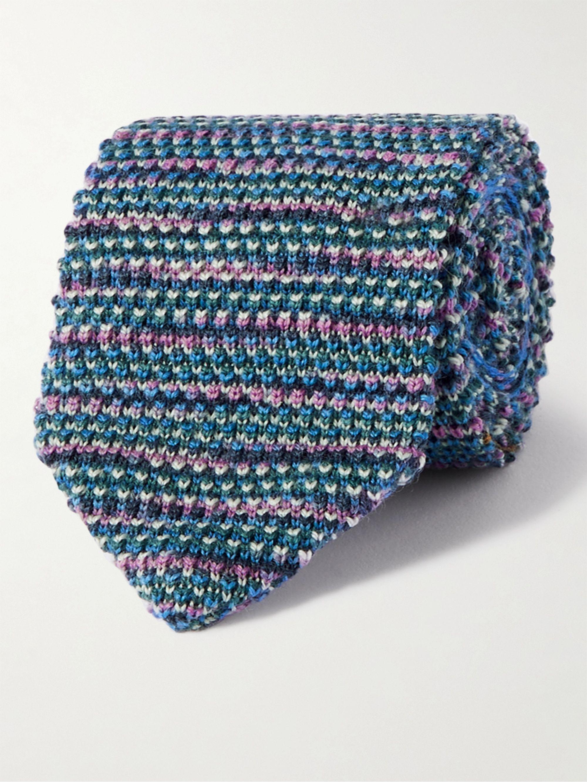 미쏘니 넥타이 Missoni Wool tie,Blue