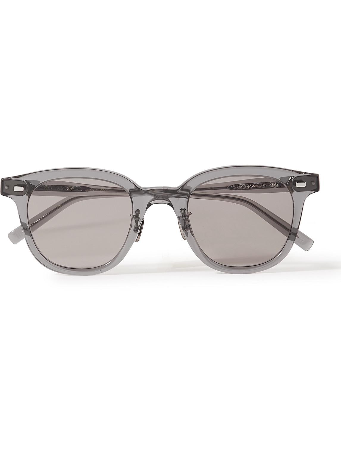 eyevan 7285 - 775 square-frame acetate sunglasses - men - gray