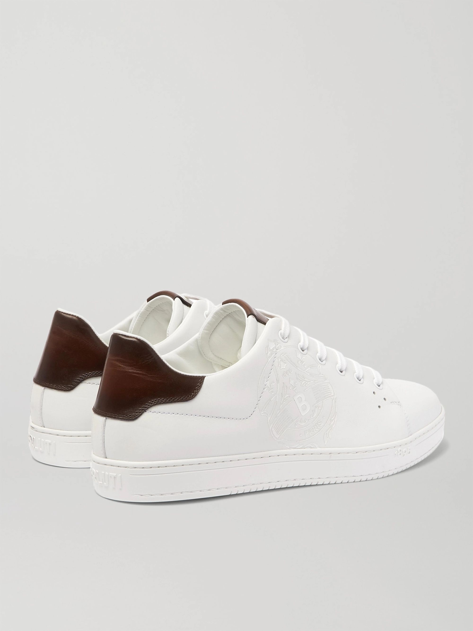 Berluti Scritto Logo-Debossed Venezia Leather Sneakers