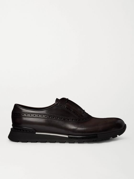 Berluti Fast Track Venezia Leather Brogue Sneakers