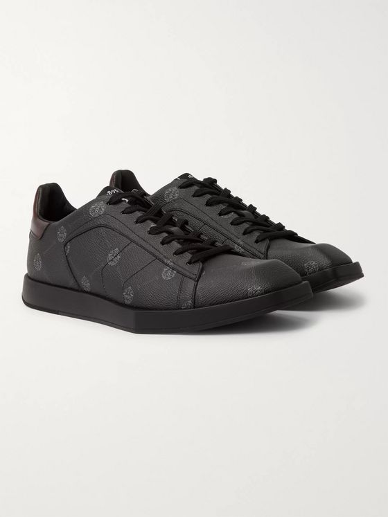 Berluti Stellar Logo-Print Full-Grain Leather Sneakers