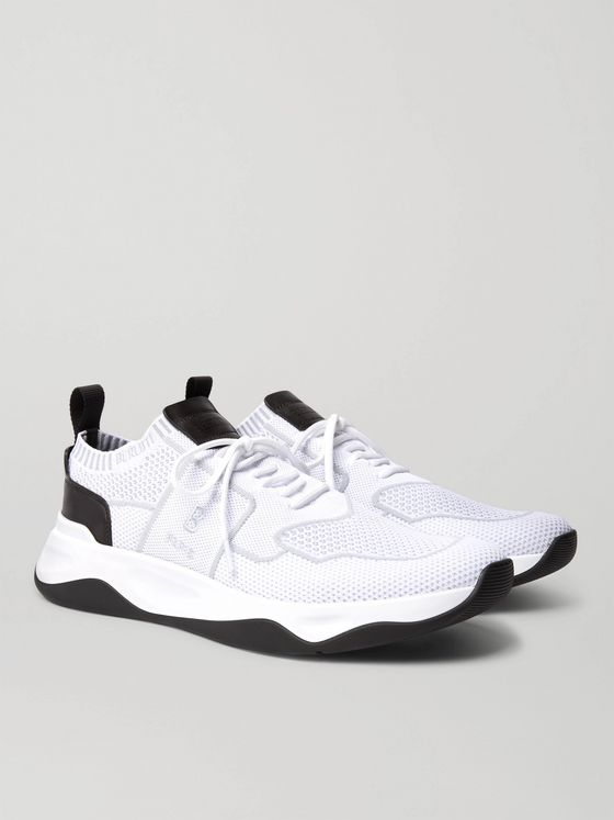 Berluti Leather-Trimmed Mesh Sneakers