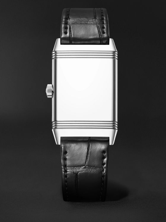 Jaeger-LeCoultre Reverso Classic Medium Thin Hand-Wound 24.4mm Stainless Steel and Alligator Watch, Ref. No. Q2548440