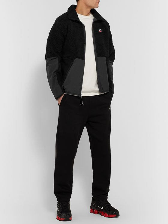 Nike Heritage Nylon-Trimmed Fleece Zip-Up Jacket