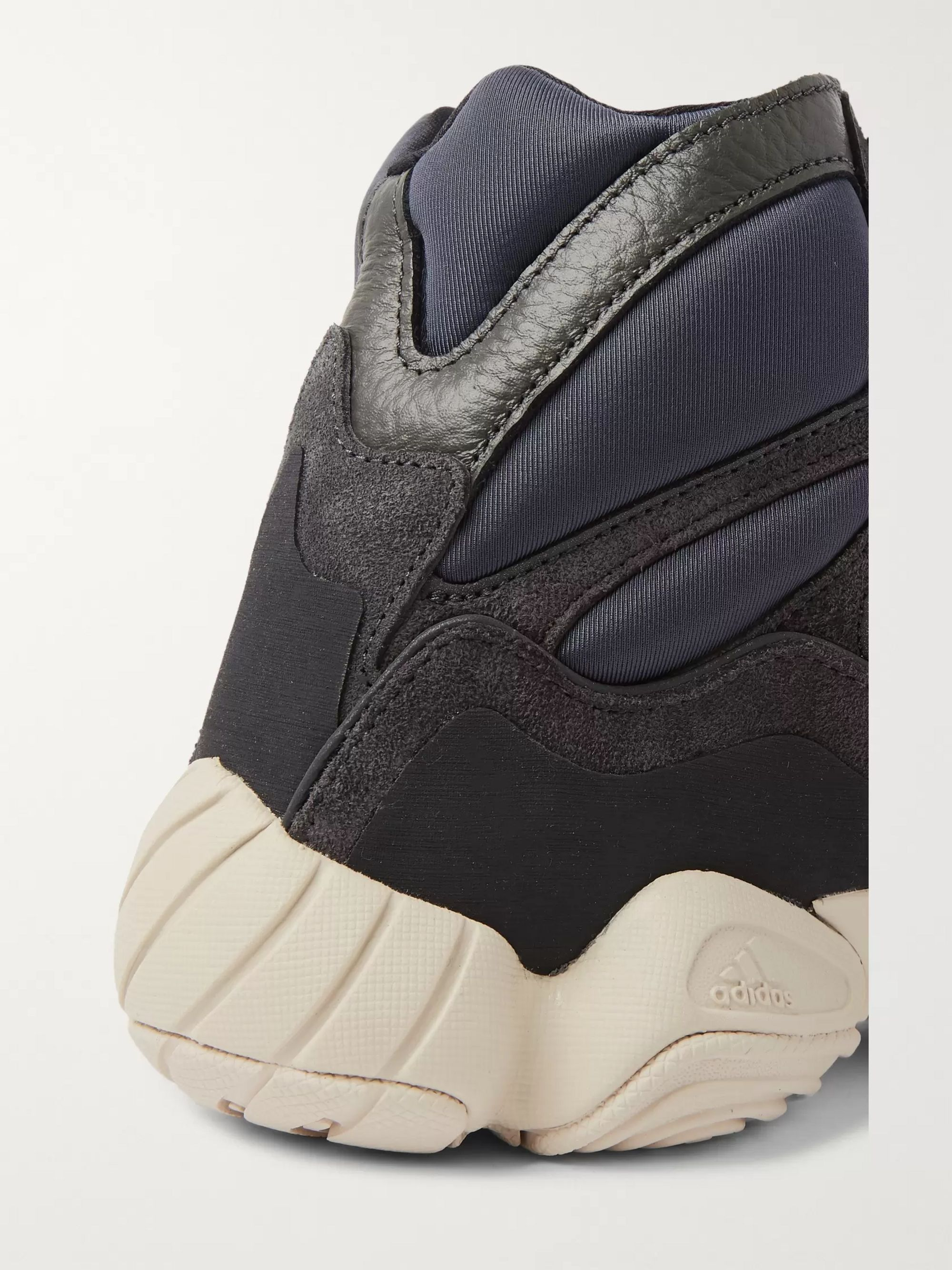 adidas Originals Yeezy High 500 Neoprene, Suede and Leather High-Top Sneakers