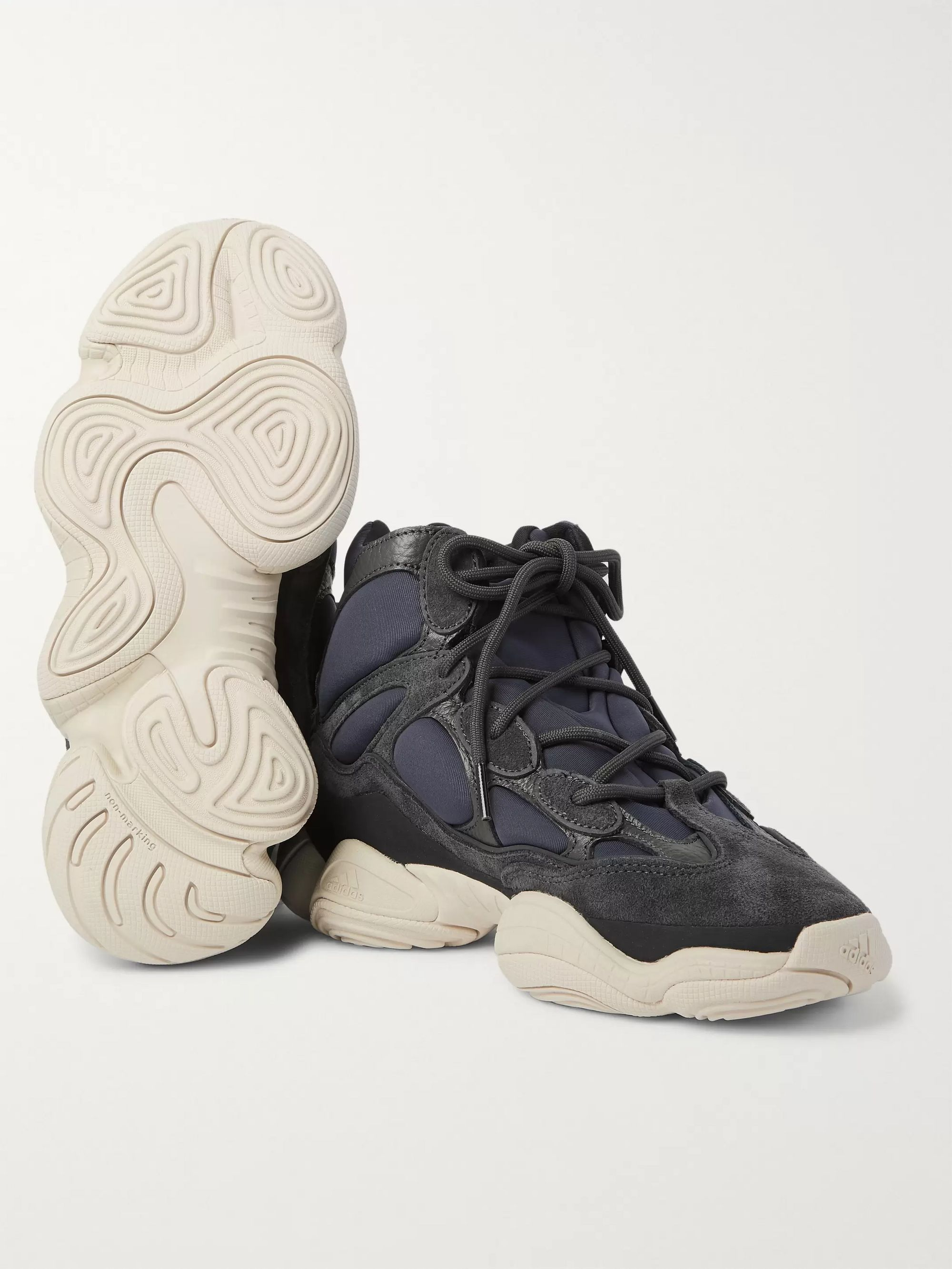 Yeezy High 500 Neoprene, Suede and Leather High Top Sneakers