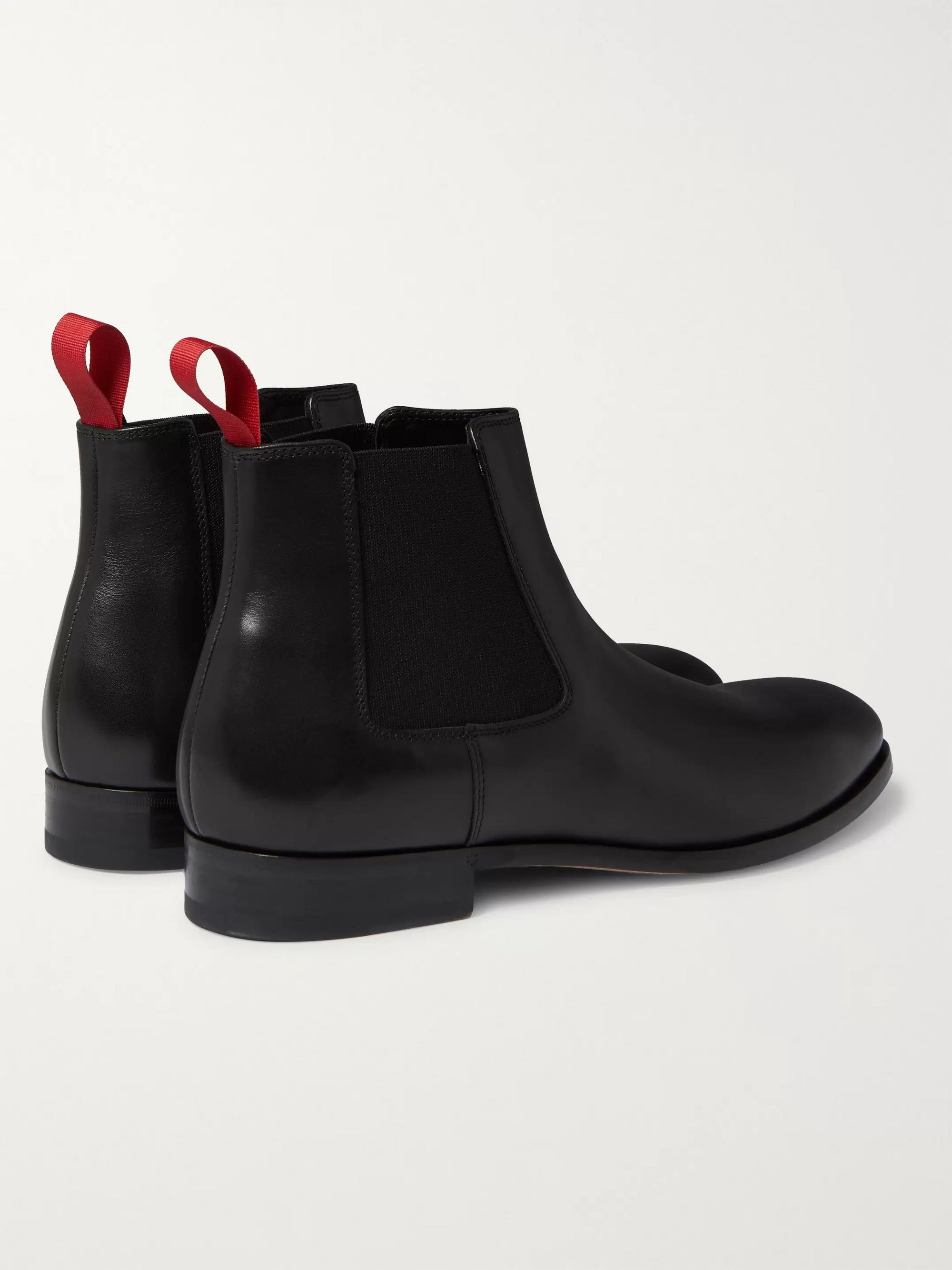 Black Crown Leather Chelsea Boots | Paul Smith