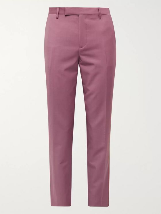 Paul Smith Sky-Blue Soho Slim-Fit Wool and Mohair-Blend Suit Trousers