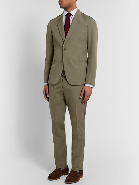 PAUL SMITH Soho Slim-Fit Cotton Suit Trousers