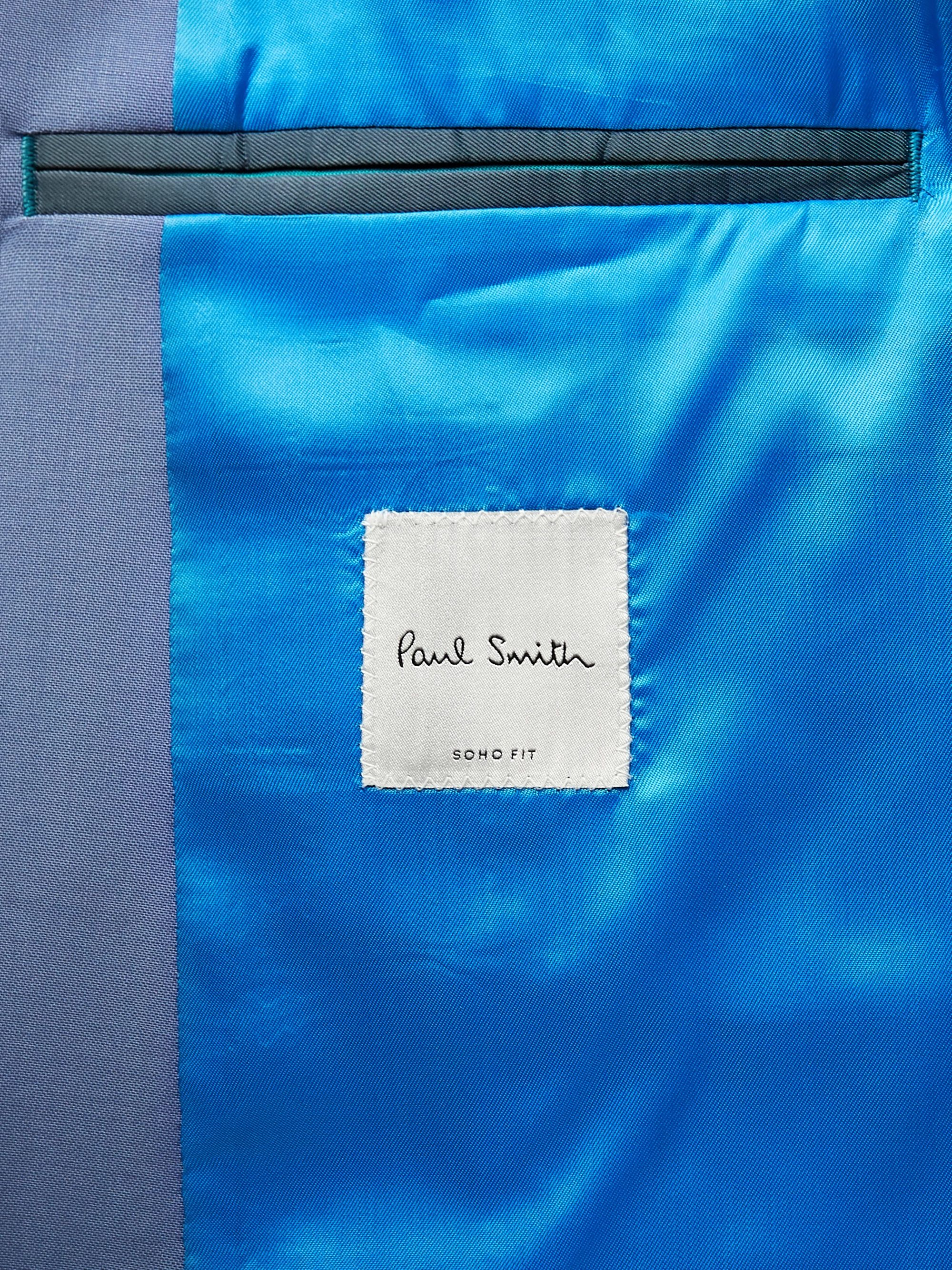 Azure Soho Slim-fit Wool And Mohair-blend Suit Jacket | Paul Smith