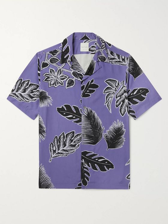 Paul Smith Camp-Collar Printed Woven Shirt
