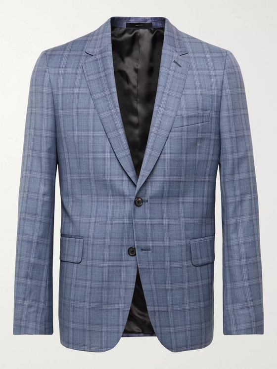 PAUL SMITH Soho Slim-Fit Prince of Wales Checked Wool Suit Jacket