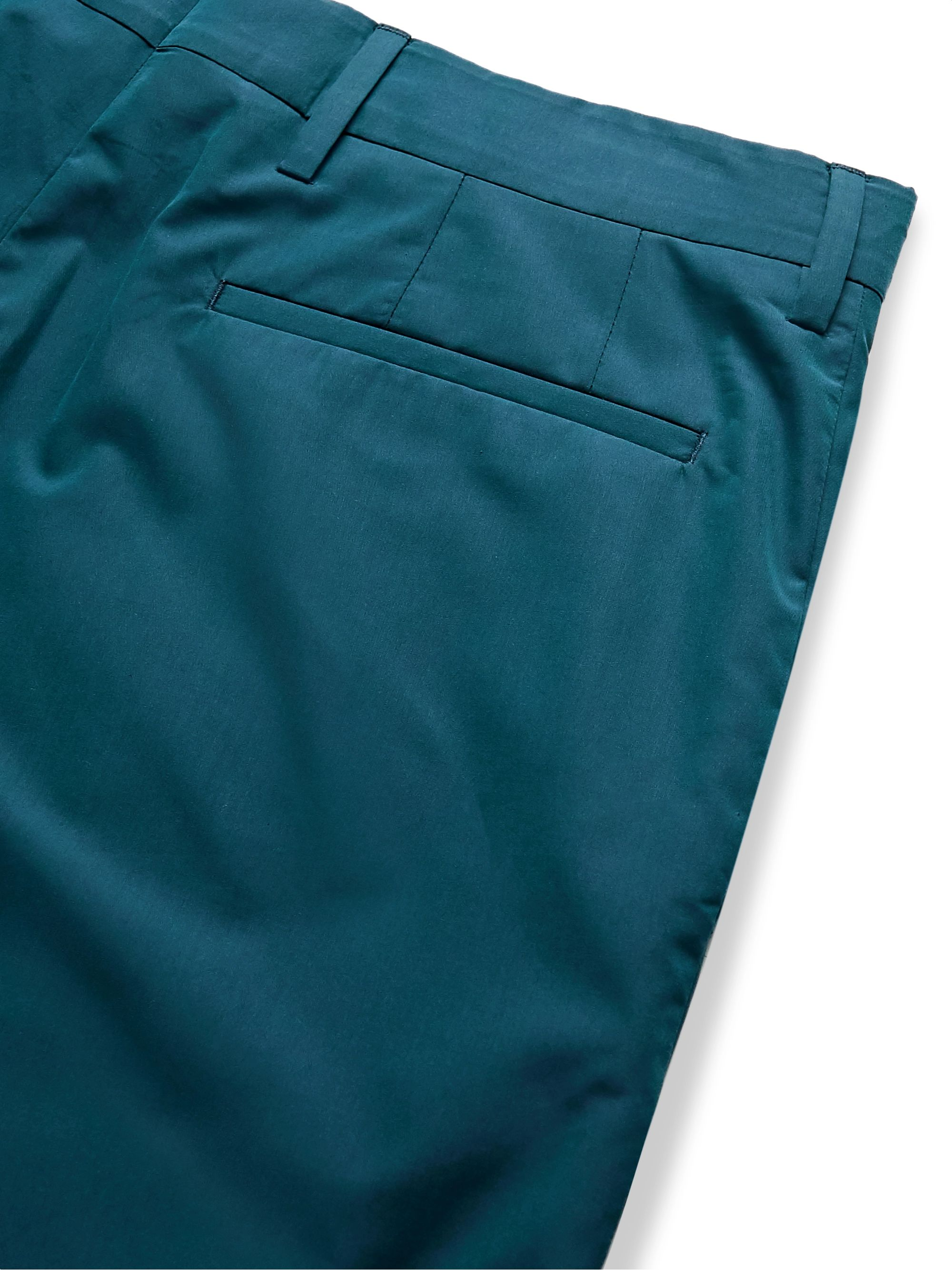 Teal Cotton Shorts | Paul Smith