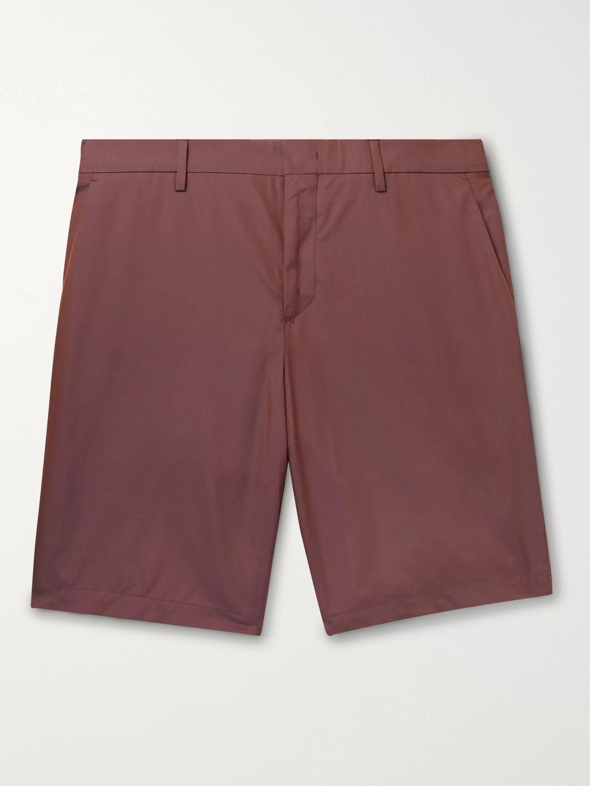 폴 스미스 Paul Smith Cotton Shorts,Burgundy