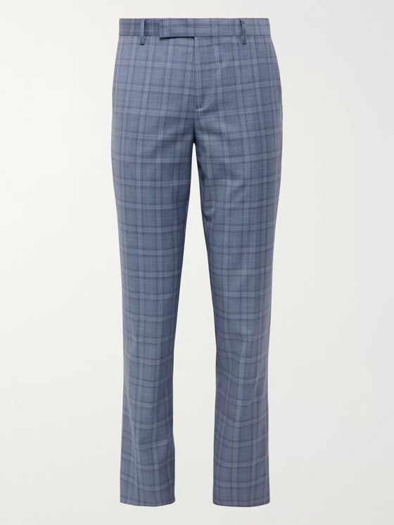 Paul Smith Soho Slim-Fit Prince of Wales Checked Wool Suit Trousers