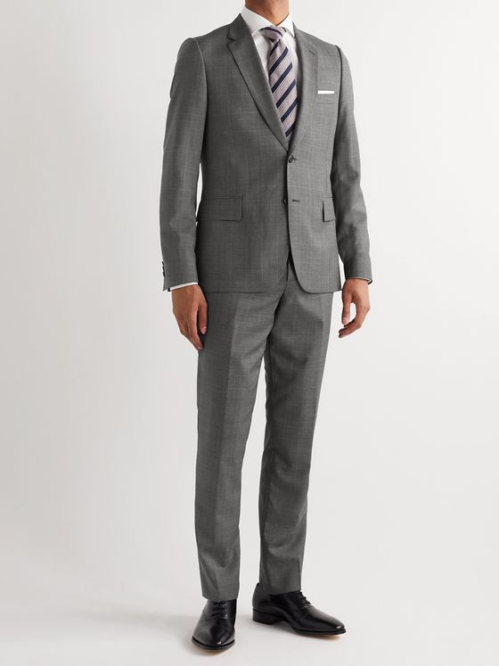 Paul Smith Slim-Fit Prince of Wales Checked Wool Suit Trousers